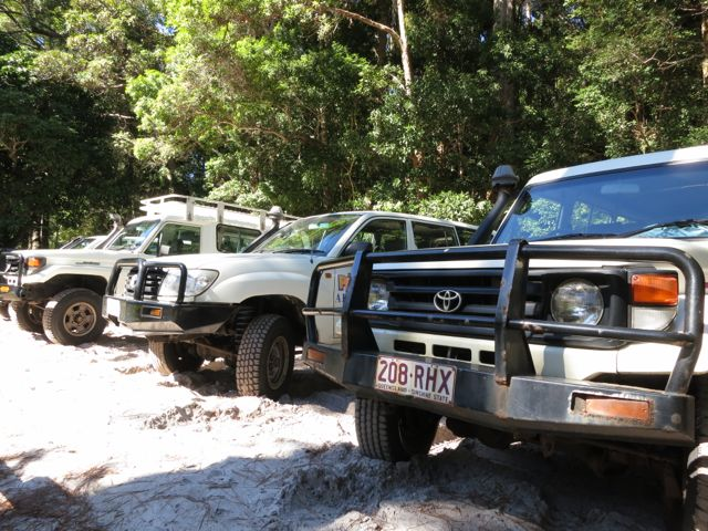Fraser Island: Allradfahrzeuge