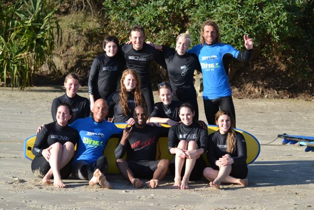 Byron Bay: Surfing Gruppe