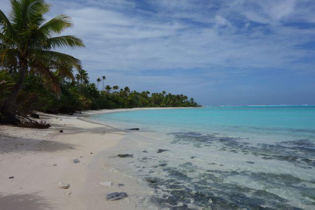 Cookinseln: Strand auf One Foot Island in der Lagune von Aitutaki
