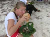 Atiu: Picknick am Strand