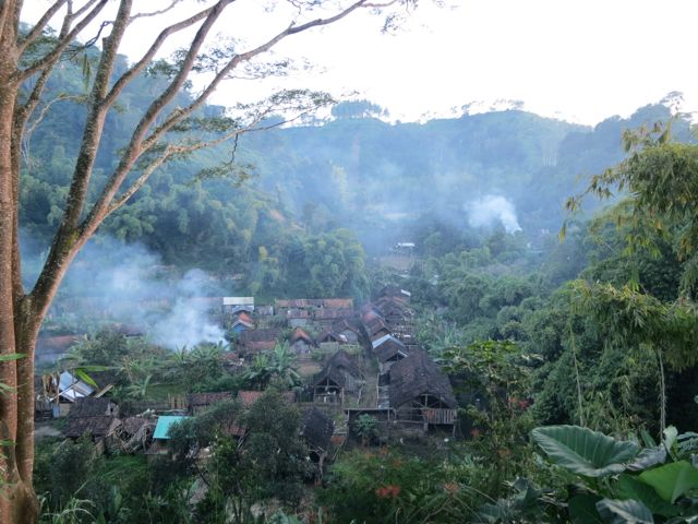 Dorf der Plantagenarbeiter