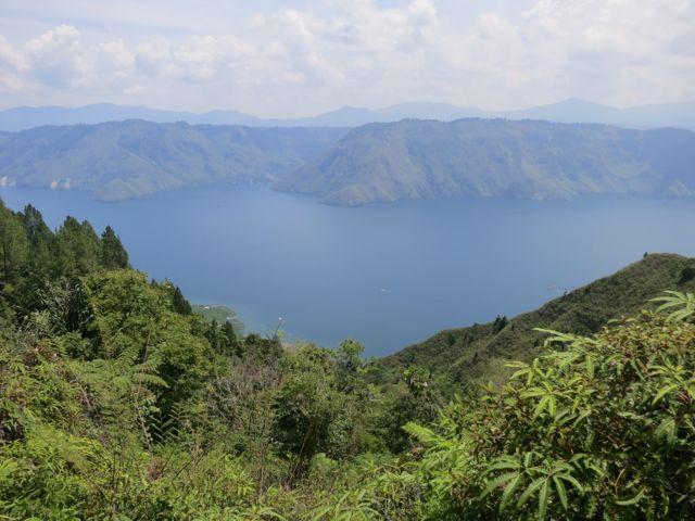 Blick auf den Toba-See von Pulau Samosir