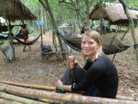 Chi Phat: Bierchen im Camp