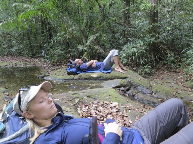 Nickerchen Trekkingtour Chi Phat