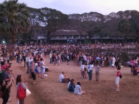 Besucherstrom Sonnenaufgang Angkor Wat