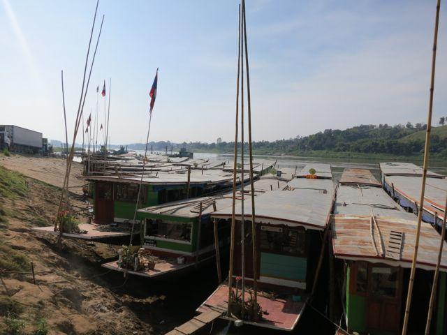 Oudomxai: Mekong Überfahrt