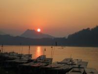 Luang Prabang: Sonnenuntergang am Mekong
