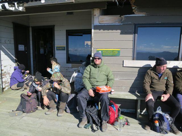 Tongariro Alpine Crossing: Mittagspause
