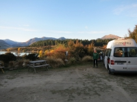 Neuseeland: Campingplatz am Lake Outlet