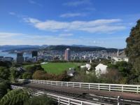 Neuseeland: Blick auf Wellington vom botanischen Garten