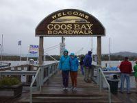 USA: Boardwalk in Coos Bay, Oregon