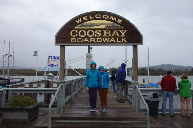 USA: Boardwalk in Coos Bay, Oregon