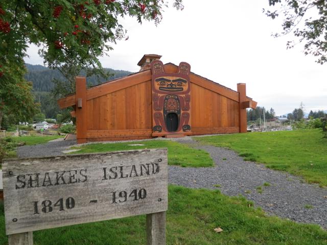 USA: Shakes Island in Wrangell, Alaska