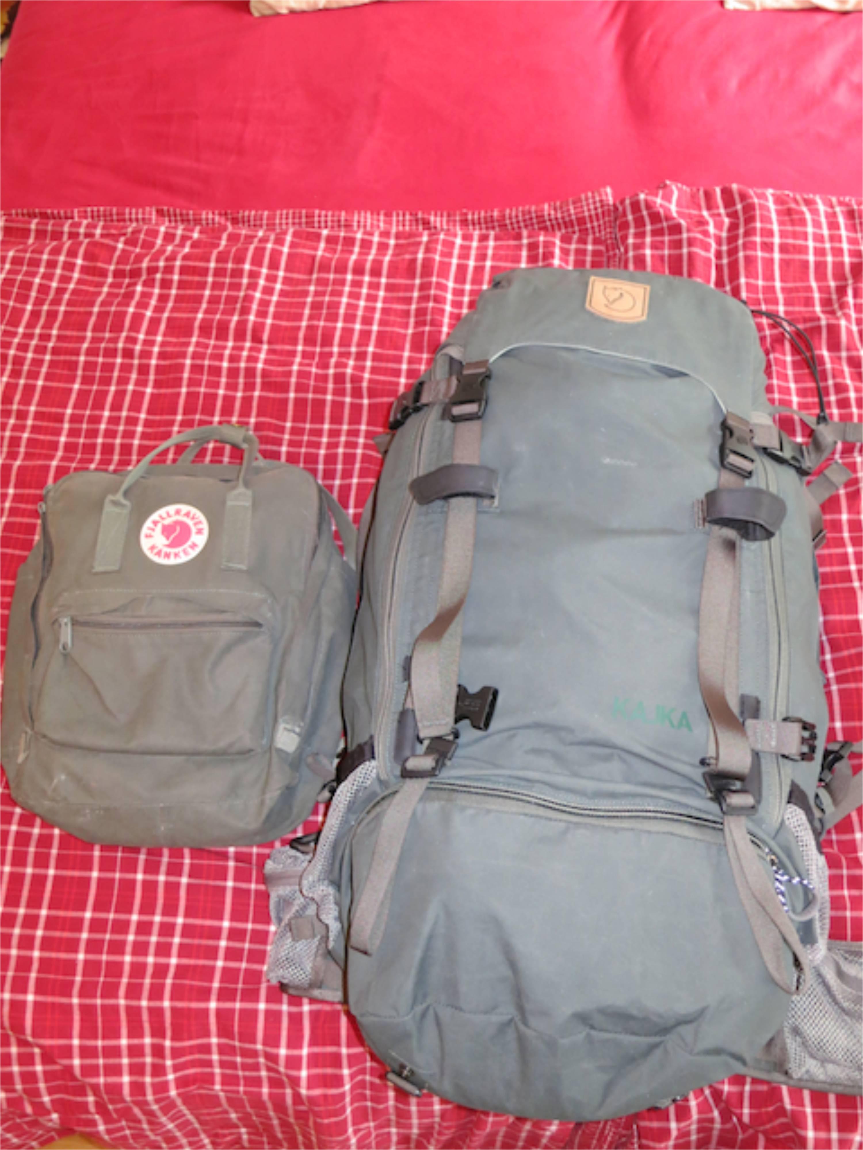 Gepäck für die Reise
