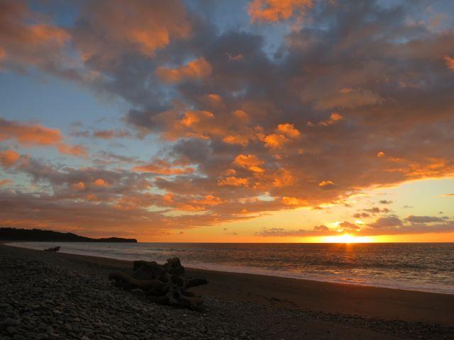 Neuseeland: Sonnenuntergang am Gillespies Beach