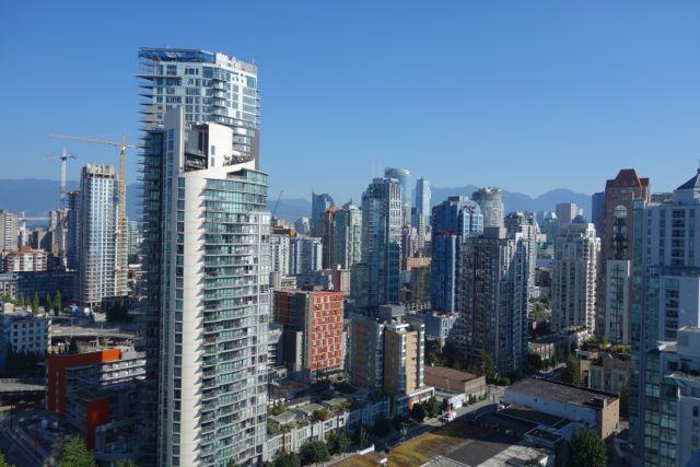 Kanada: Blick aus unserem Appartement in Vancouver