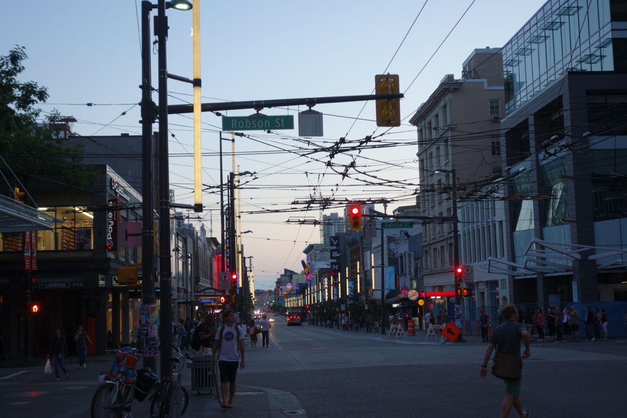 Kanada: Straßenansicht in Vancouver
