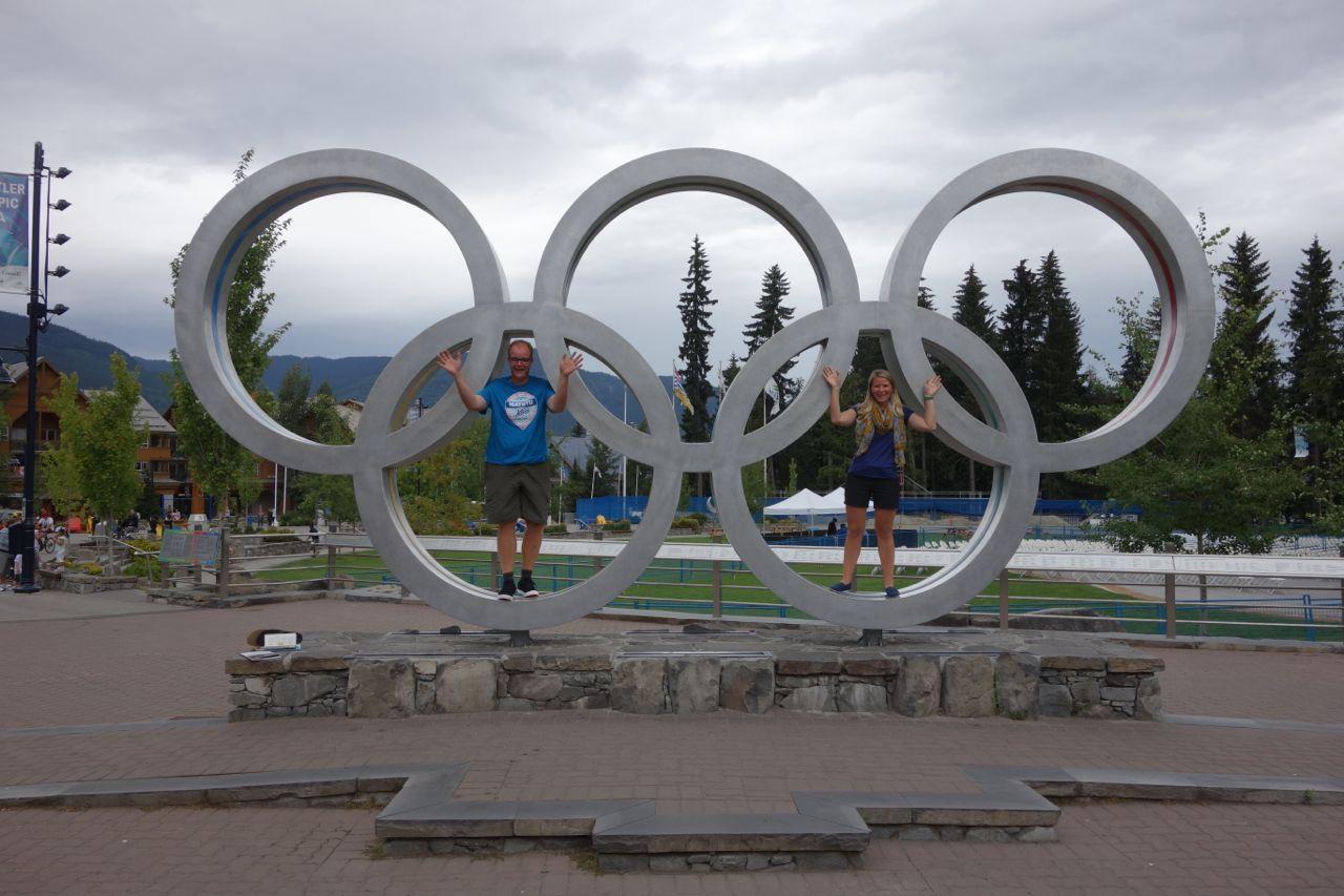 Kanada: Olympische Ringe in Whistler
