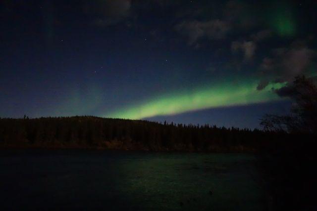 Kanada: Nordlicht über dem Lake Laberge