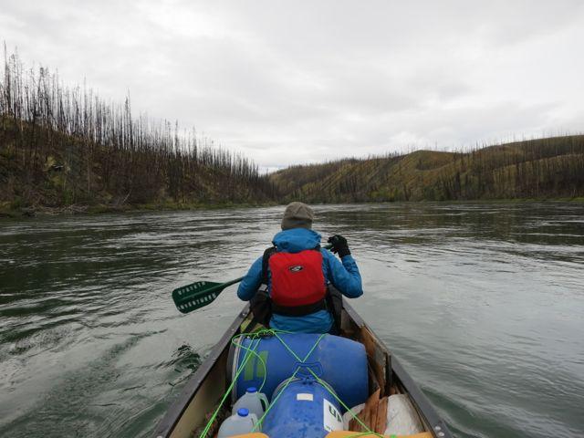 Kanada: Brandfläche am Yukon River